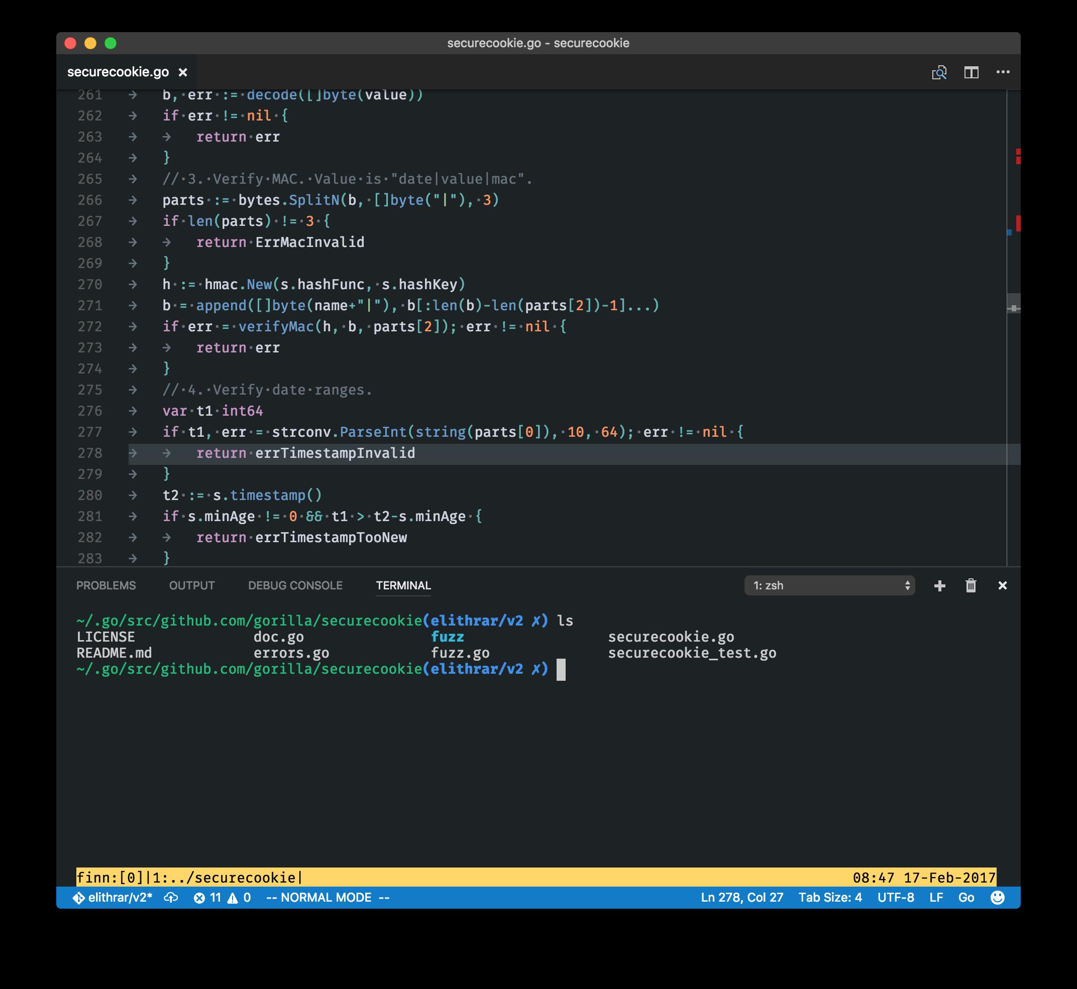 From vim to Visual Studio Code · request / response